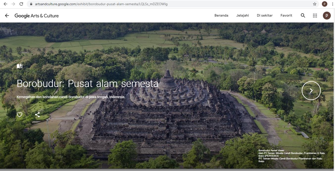Lanskap Candi Borobudur dari Artsandculture.google.com
