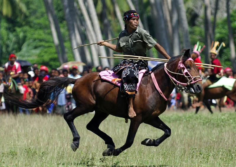 seseorang di atas kuda
