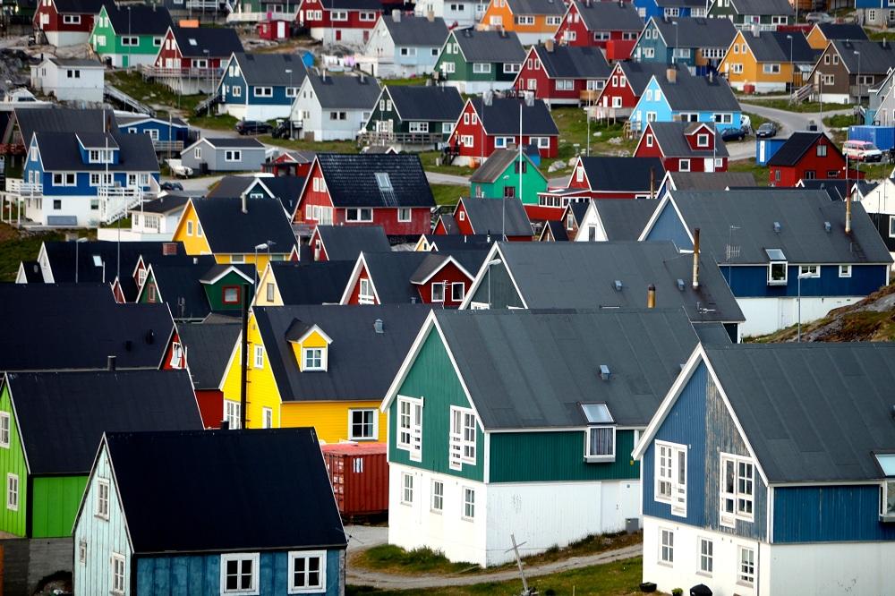 Kota Nuuk di Greenland.