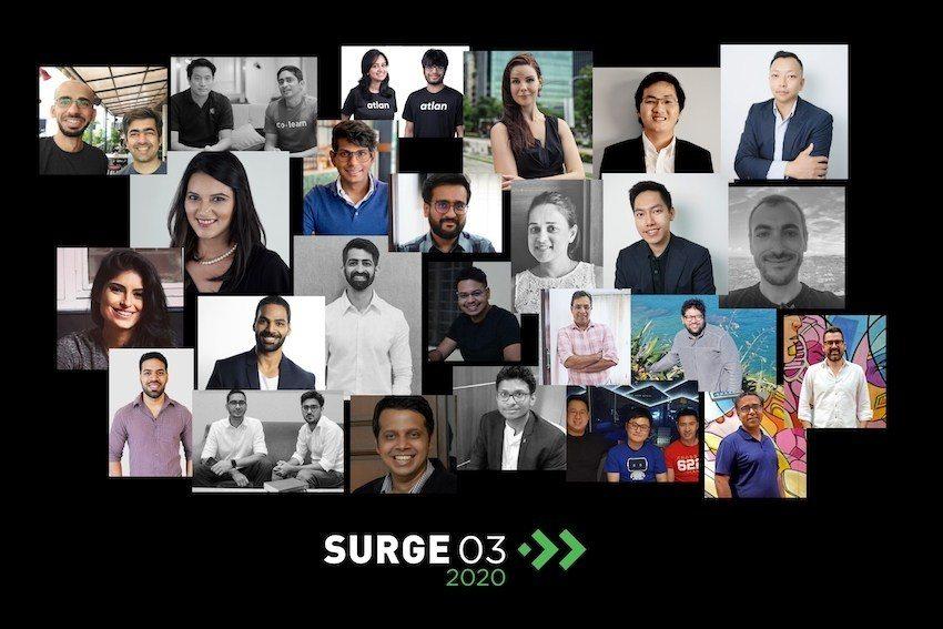 Para pendiri startup di Program Akselerator Surge 03. Foto: Sequoia Capital
