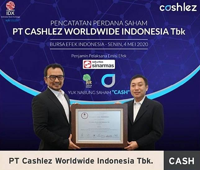 Jadi Emiten ke-27 di 2020, Cashlez Worldwide Indonesia Resmi Melantai di Bursa. Foto: Cashlez