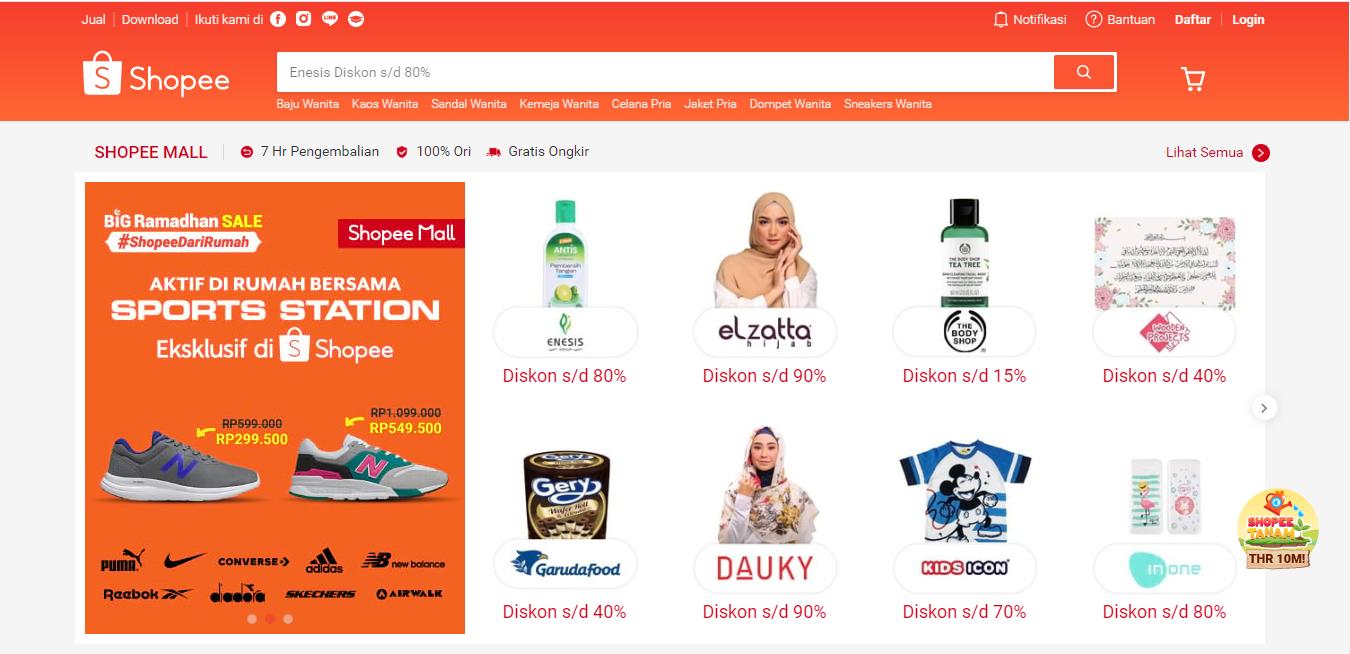E-commerce Shopee | Foto: tangkapan layar