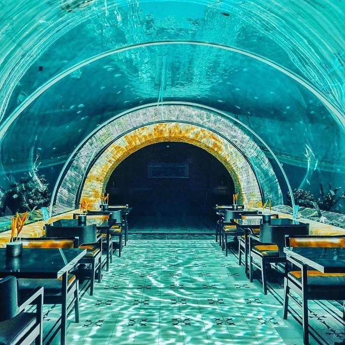 Keren! Ada Restoran dengan Pemandangan Bawah Laut Di Bali | Foto: food.detik.com
