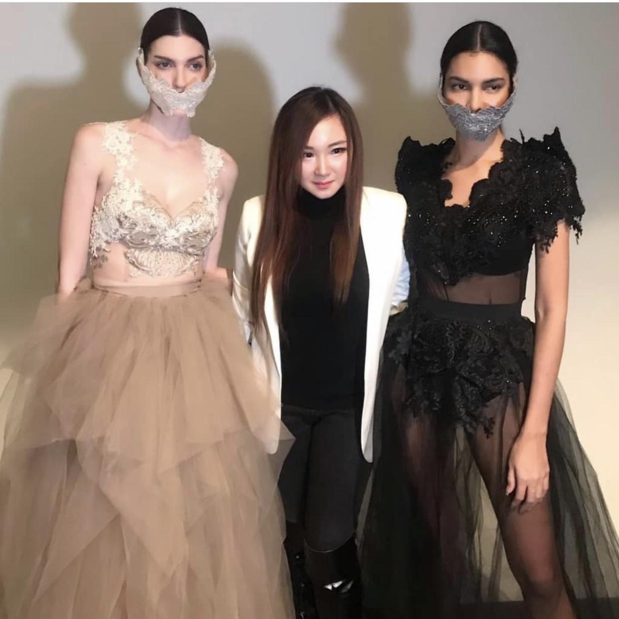 Masker Aksesoris Gaun Pheren Couture