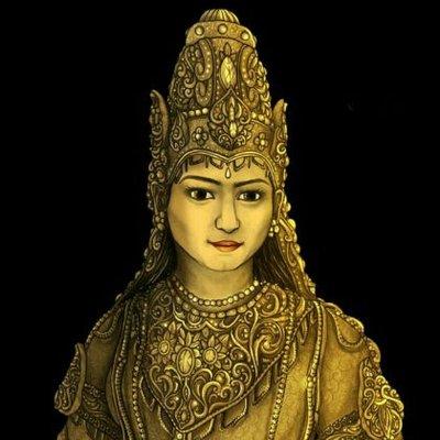 Ilustrasi Ratu Shima | Foto: Twitter/shima_kalingga