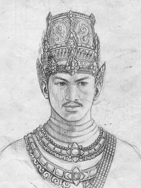 Ilustrasi pendiri kerajaan Majapahit, Raden Wijaya.