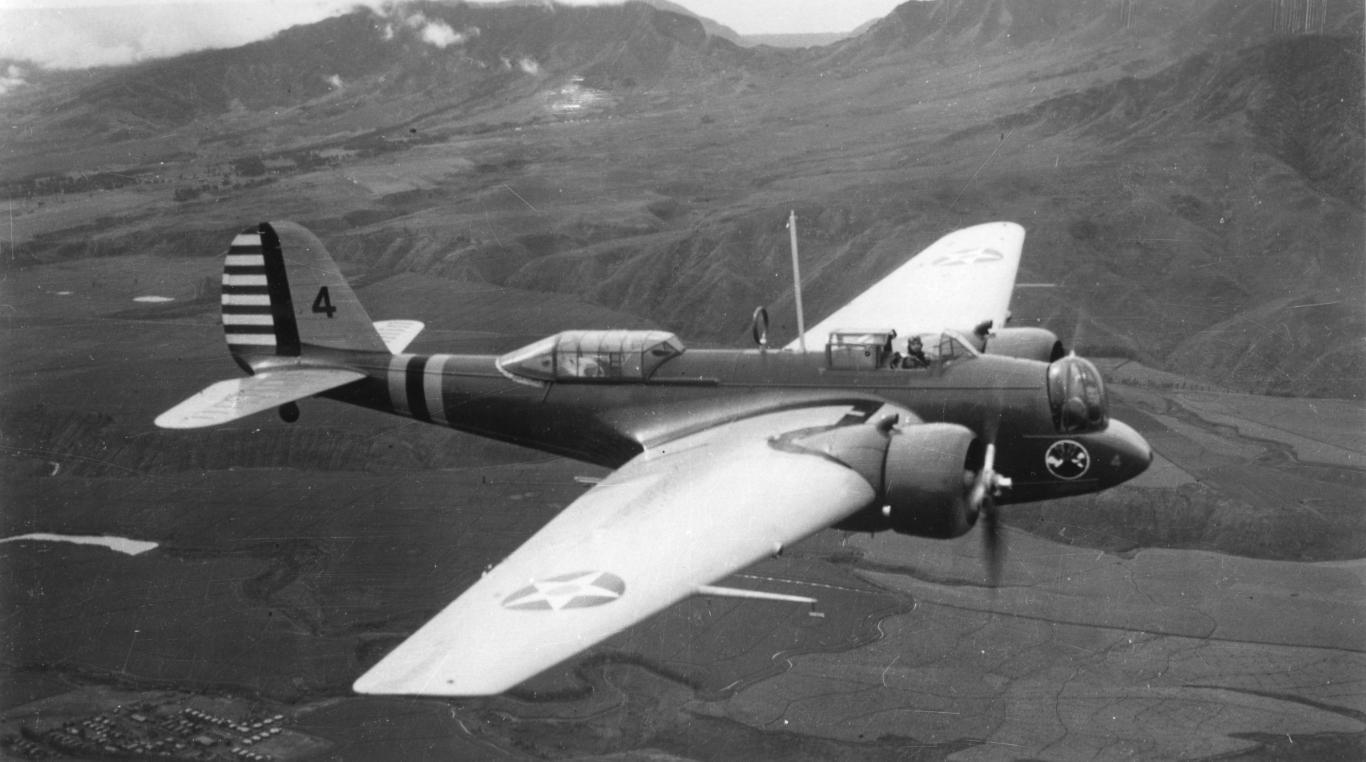 Pesawat Jenis Martin B-10 yang digunakan Soerjadarma memborbardir Jepang (Foto: Harold Wahlberg / Wikipedia.org)