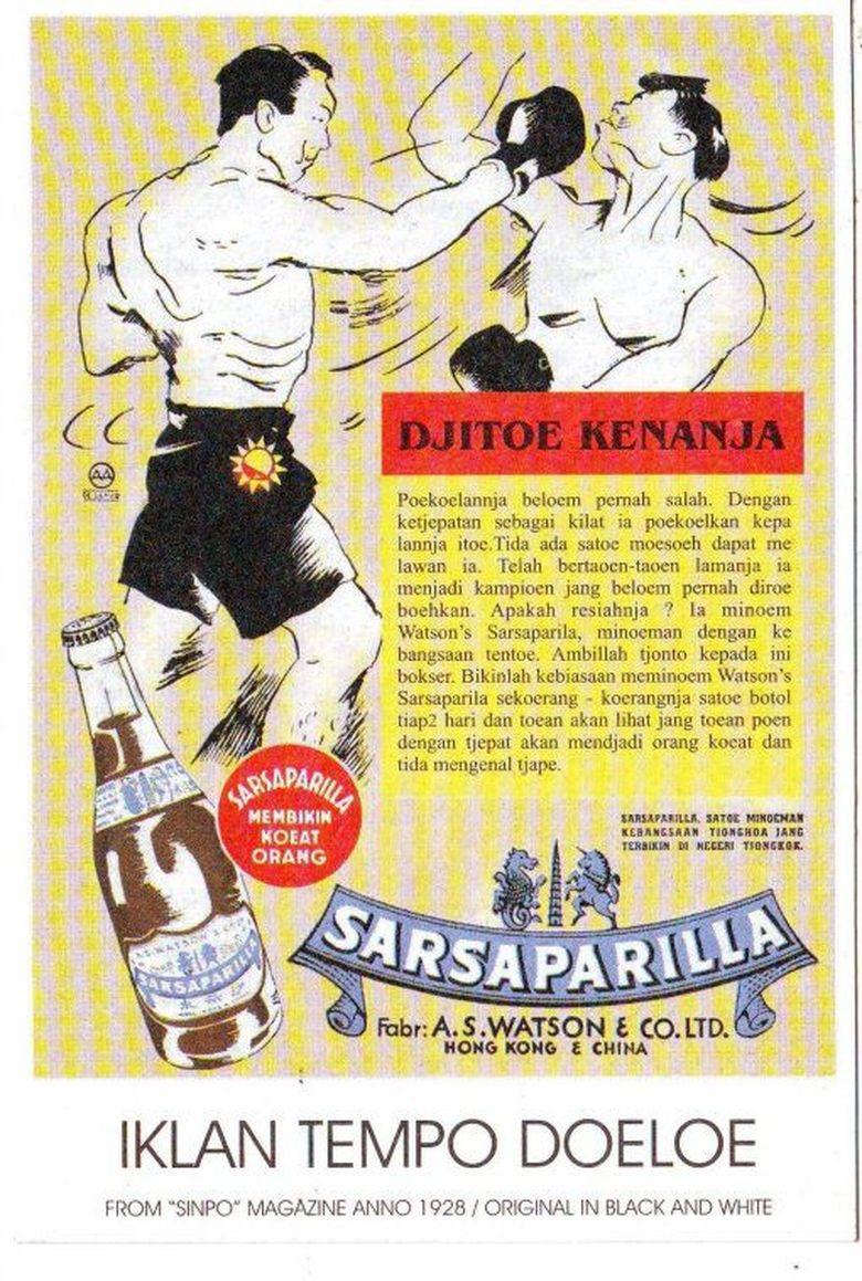 Iklan minuman Sarsaparilla.
