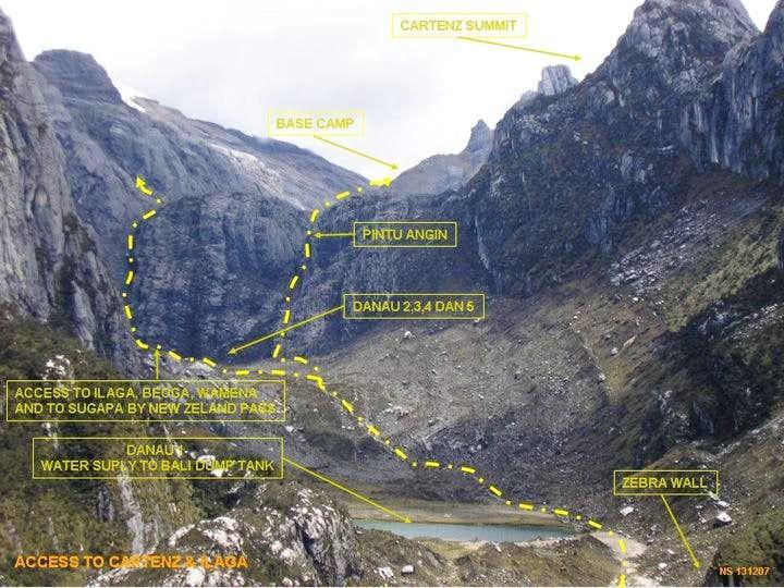jalur pendakian carstenz