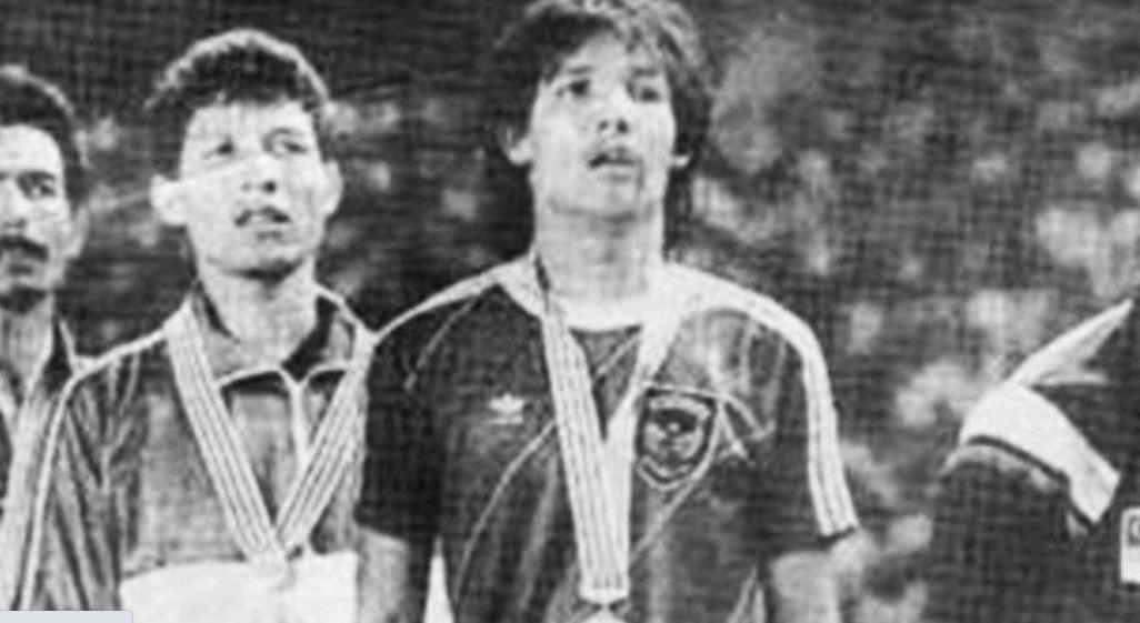 Ricky Yacobi saat menjadi salah satu pilar timnas Indonesia ketika menjuarai cabang olahraga sepak bola pada Sea Games 1987.