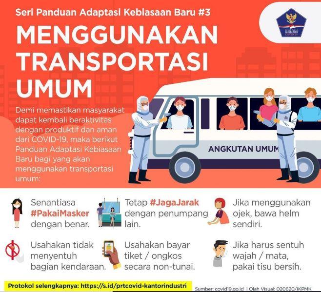 Panduan untuk Pengguna Transportasi Umum di Masa AKB. Foto: GTPP COVID-19