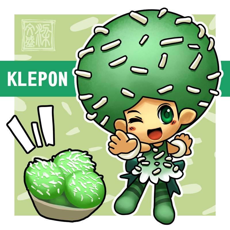 Klepon, karakter pertama yang dibuat oleh Wenart Gunadi untuk Jemil Kingdom (Gambar: Kingdom of Jemil / Facebook.com)