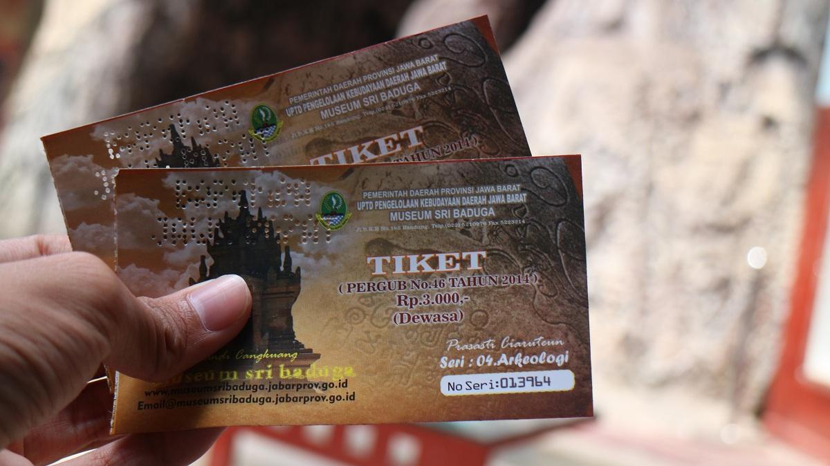 Tiket masuk Museum Sri Baduga dibanderol Rp 3.000 untuk dewasa.