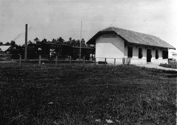 Stasiun PasarButung pada 1924.