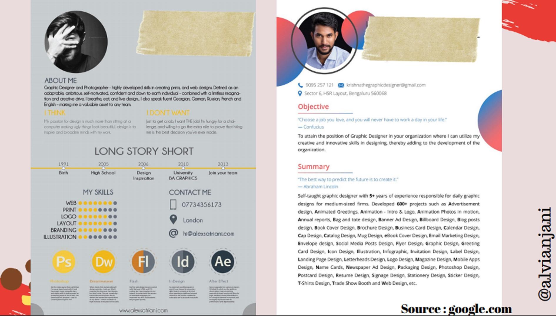 Hindari CV seperti ini | Foto: PPT Alvia Anjani