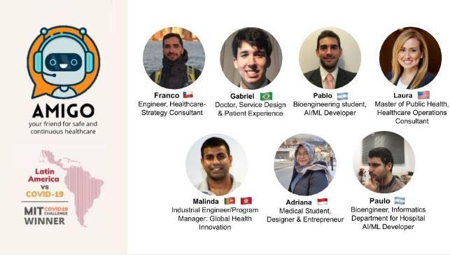 Tim AMIGO di mana Adriana menjadi satu-satunya orang Indonesia di dalam tim.