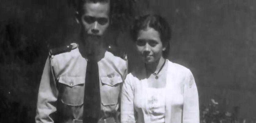 Hoegeng dan istrinya, Merry.