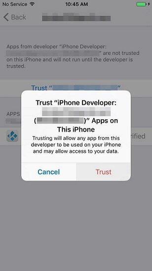 Proses penggandaan aplikasi pada iPhone