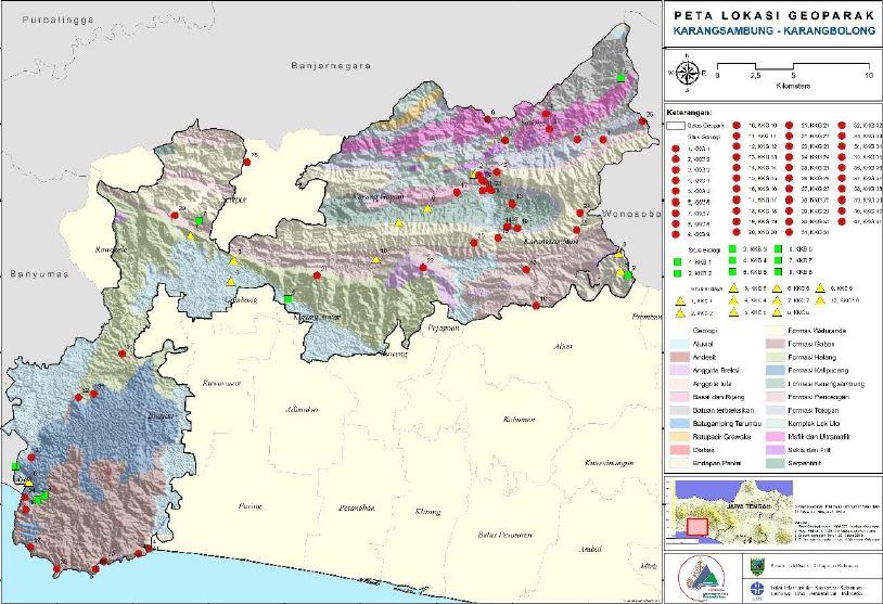 Peta Geopark Karangsambung-Karangbolong.