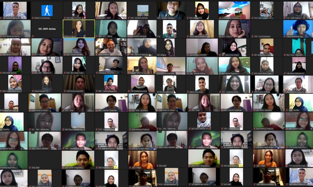 Tangkapan layar kegiatan forum Impact Circle   Foto: AIESEC Surabaya
