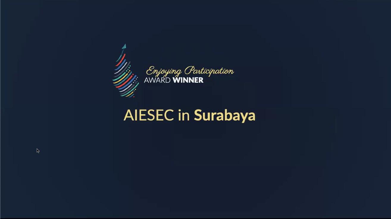 Pengumuman Kemenangan AIESEC in Surabaya dalam Enjoying Participation Award