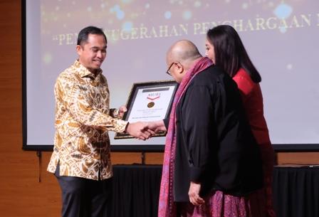 MURI memberikan penghargaan pada Museum Timah Indonesia pada 2018.