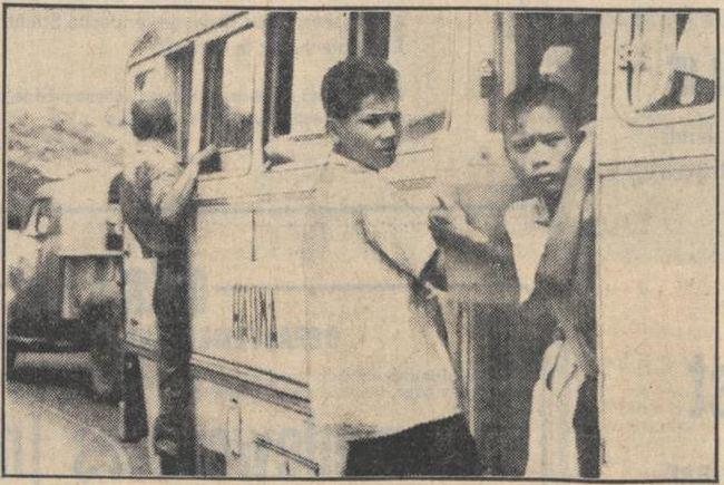 Sebuah bus di ibu kota Jakarta