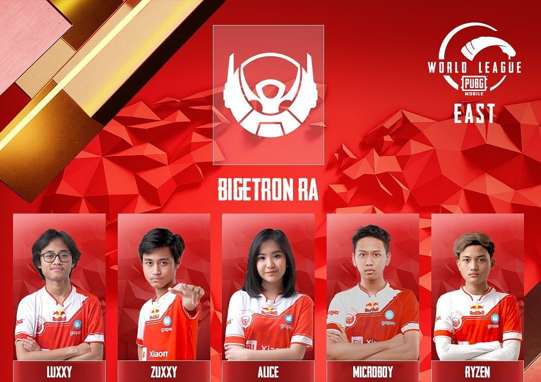 Skuad Bigetron Red Aliens untuk PUBG Mobile World League 2020.