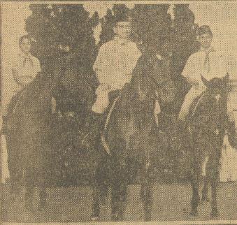 Barisan kuda pramuka dipimpin Kolonel dr Singgih.