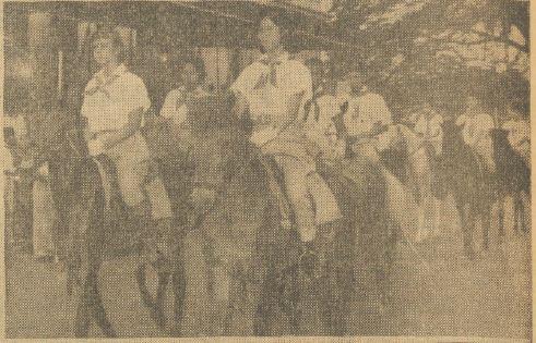 Pasukan berkuda Gerakan Pramuka.