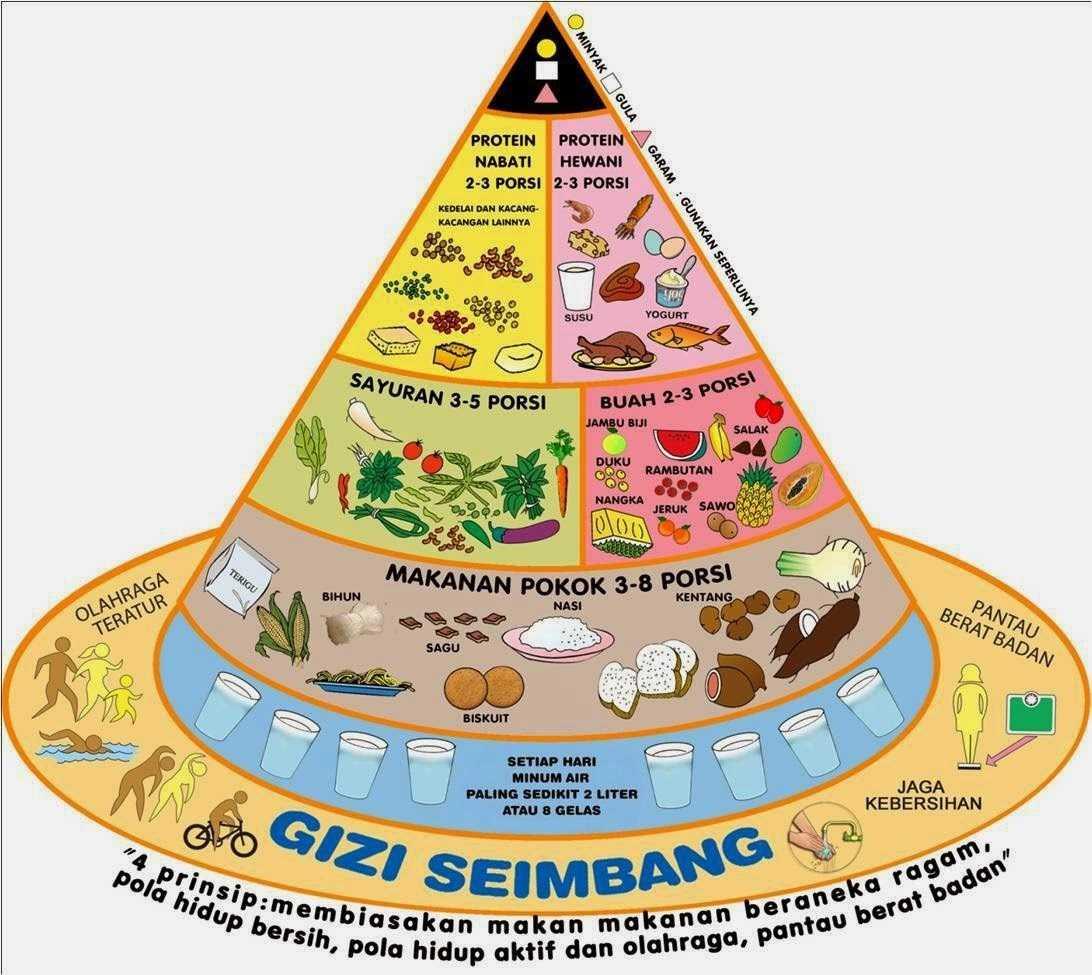 Piramida Makanan Indonesia | Sumber gambar: myghidza.blogspot.com