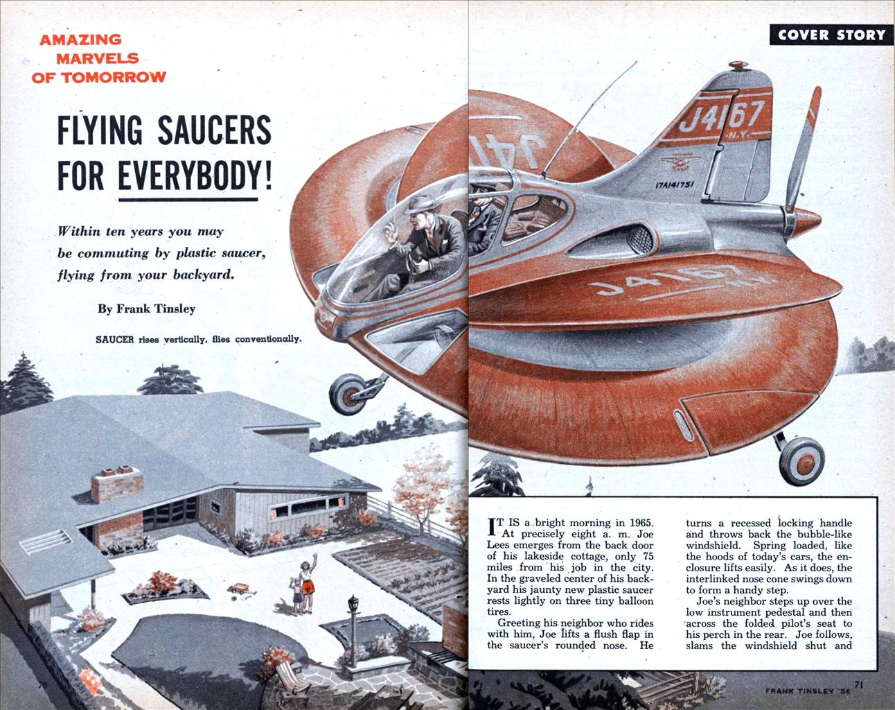 Flying Saucers karya Frank Tinsley