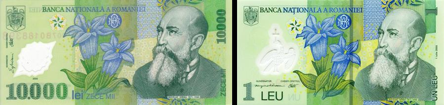 kiri: lei (ROL), kanan: leu (RON)