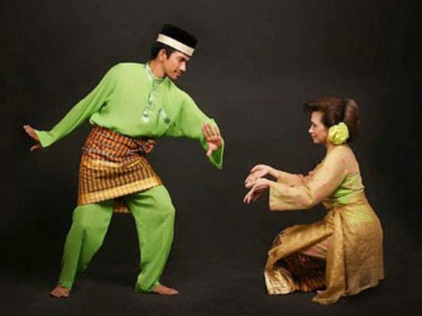 Ilustrasi tari lenggok mak inang | Foto: sumateradances.com