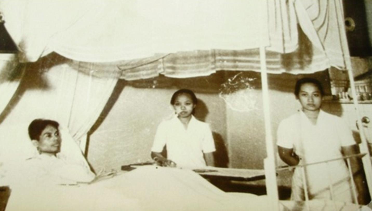 Panglima Besar Jenderal Soedirman saat menjalani perawatan di Rumah Sakit Panti Rapih, Yogyakarta.