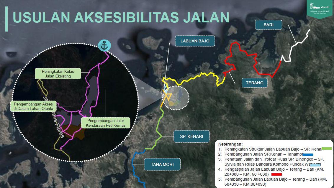Usulan aksesbilitas jalur lintas utara. Diperkirakan tahun 2021 akhir sudah bisa dilalui.