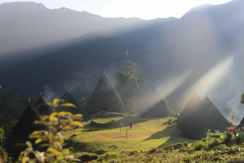 Kampung Adat Wae Rebo di NTT, Flores, pada 2018.