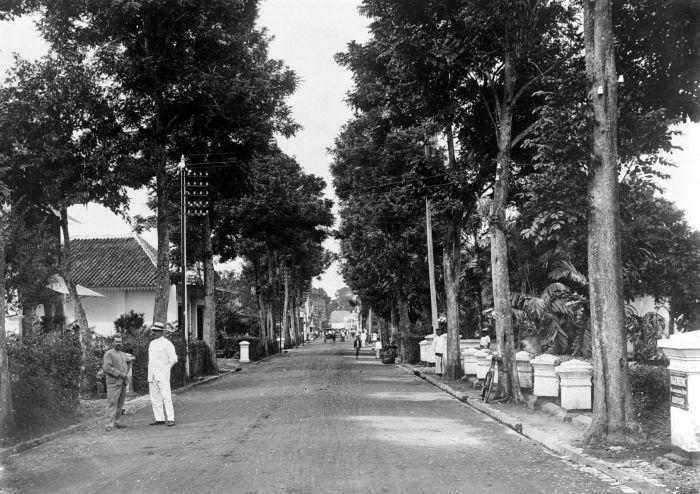 Potret Jalan Braga, Bandung, pada 1908.