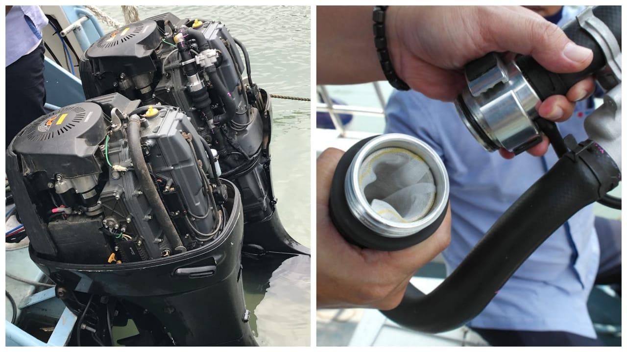 alat penyaring mikroplasti laut