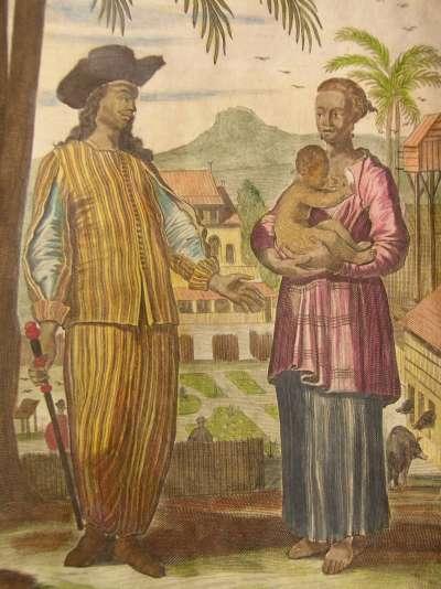 Ilustrasi kaum Mardijkers alias Portugis Hitam di Batavia.