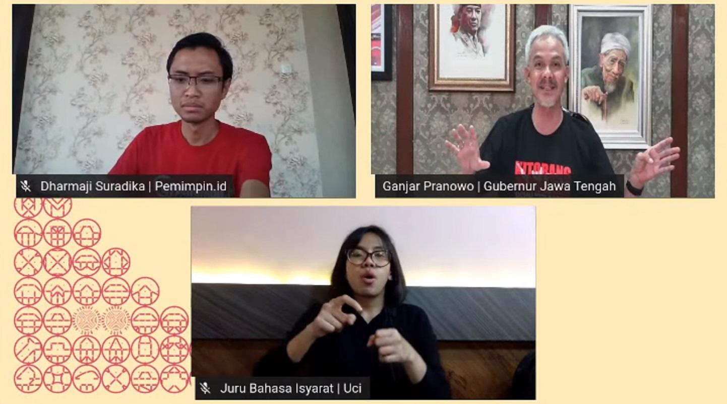 Potret Ganjar Pranowo di Dialog Kebangsaan | Foto: Dok. Pribadi