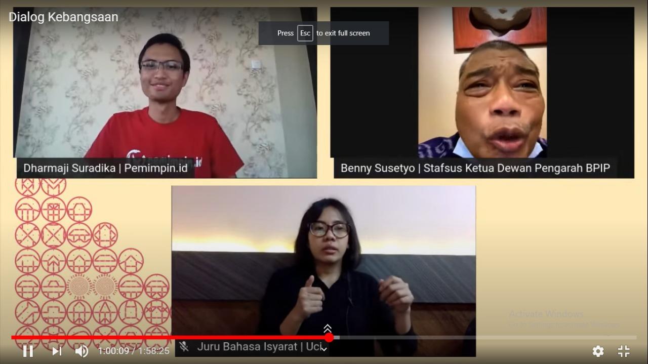 Benny Susetyo di Dialog Kebangsaan | Foto: Dok. Pribadi