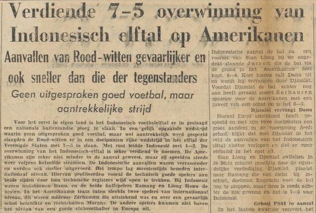 Indonesia menang 7-5 atas AS.