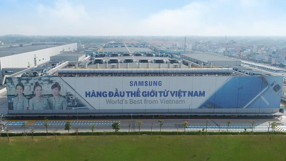Kompleks pabrik Samsung di Vietnam, raksasa | Nan Dhan