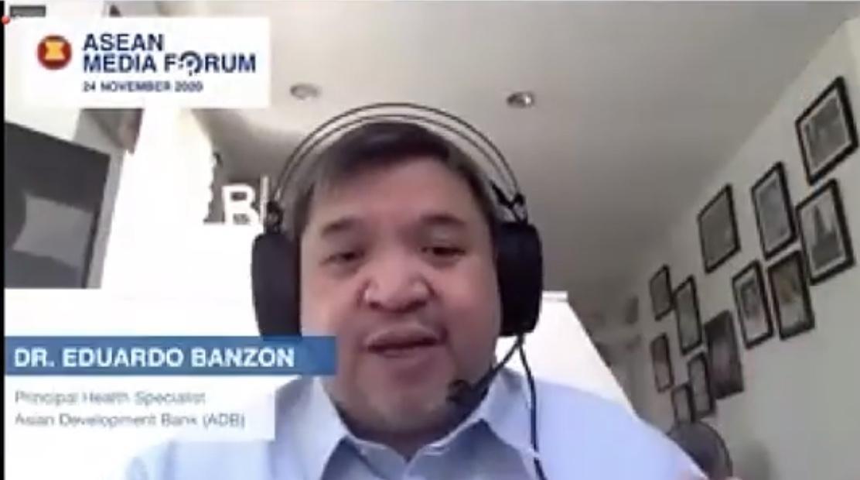 Dr. Eduardo Banzon dalam ASEAN Media Forum 2020