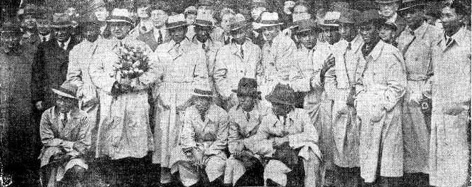 Sambutan timnas Hindia Belanda di Den Haag.