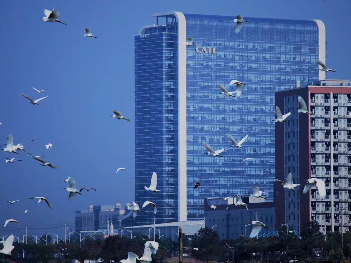Kantor pusat CATL, di Ningde, Fujian, China. Kini terbesar   CATL Bay