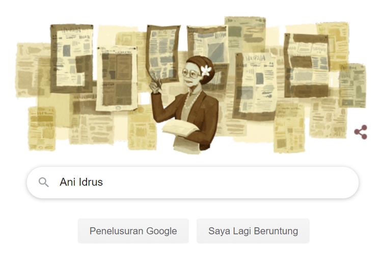 Ani Idrus pernah muncul dalam wujud Google Doodle.