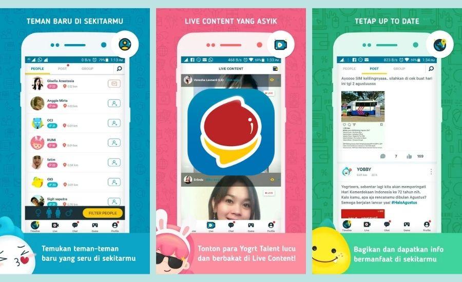 Yogrt adalah aplikasi sosial media terbaru Indonesia