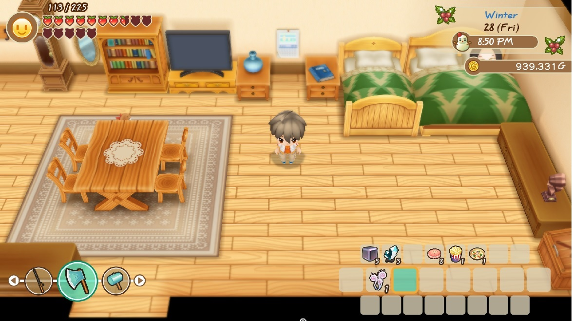 Tampilan gim Story of Seasons: Friends of Mineral Town